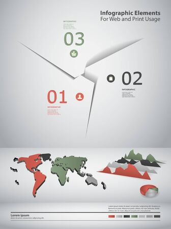 High quality business infographic elements Stock Vector - 18931050