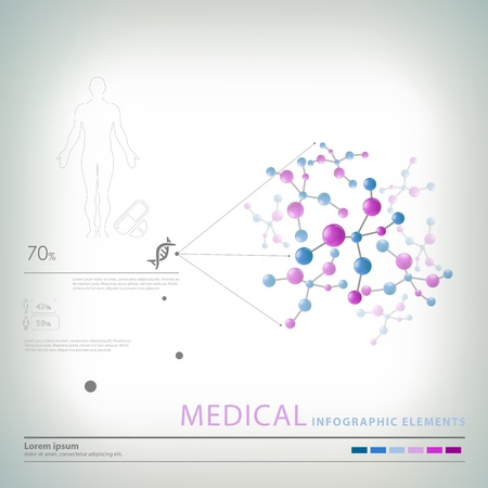 médicaux éléments infographiques Vecteurs