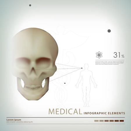 dna graph: medical infographic elements Illustration