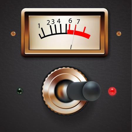 player controls: Interruptor grunge estilo Steampunk