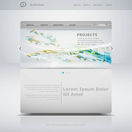 website template: Website template in editable vector format