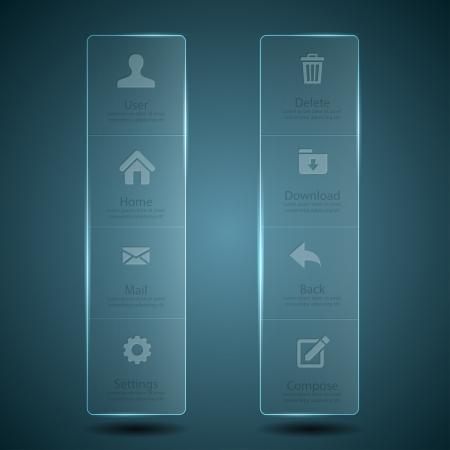 Web design Menu template  Illustration
