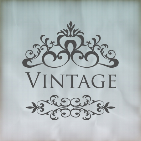 most popular: Vintage vector floral frame