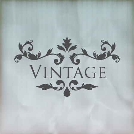 Vintage vector floral frame  Vector