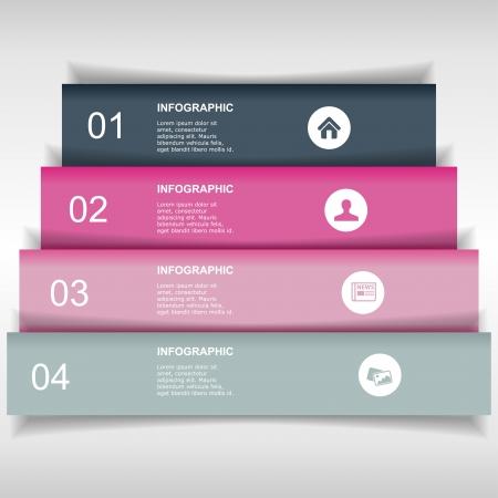 Modern infographics options banner Фото со стока - 20244645
