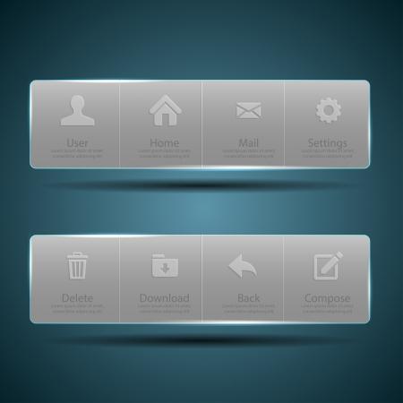 Web design Menu template  Иллюстрация