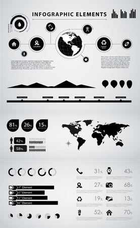 demographics: High quality business infographic elements