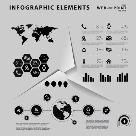 High quality business infographic elements  Vector