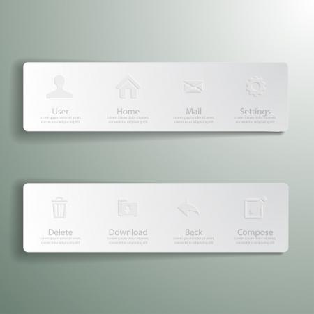 sidebar: Web design Menu template  Illustration