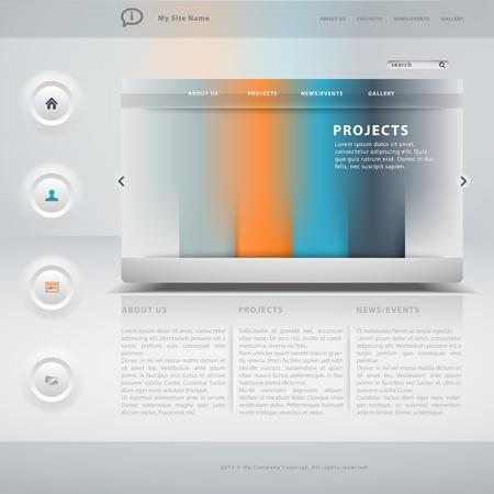worldwide website: Website template Illustration