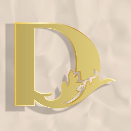 a d: Vintage initials letter d
