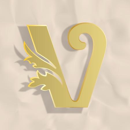 Vintage initials letter v Stock Vector - 20837886