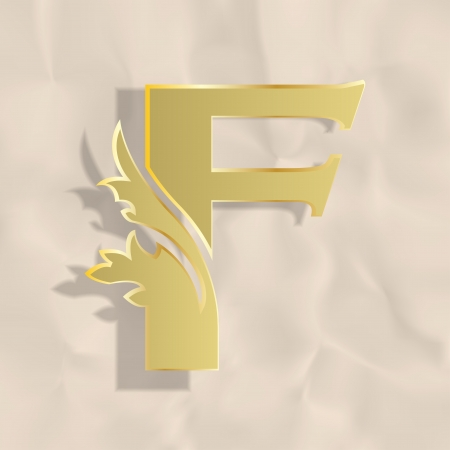 Vintage initials letter f Stock Vector - 20837847