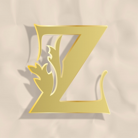 Vintage initials letter z Stock Vector - 20837852