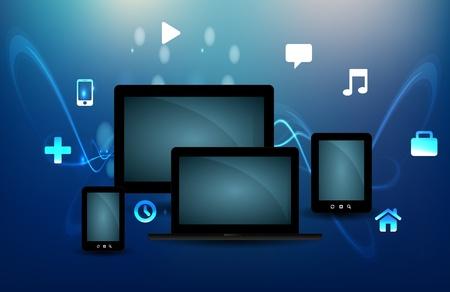 mobile website: Cloud Computing Concept