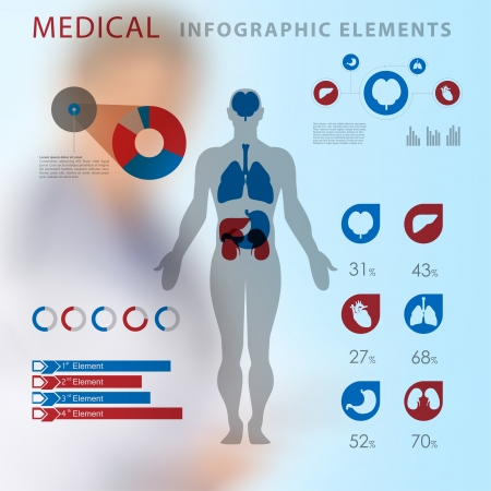 medical infographic elements  Stock Vector - 20837860