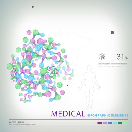 medical infographic elements  Stock Vector - 20837861
