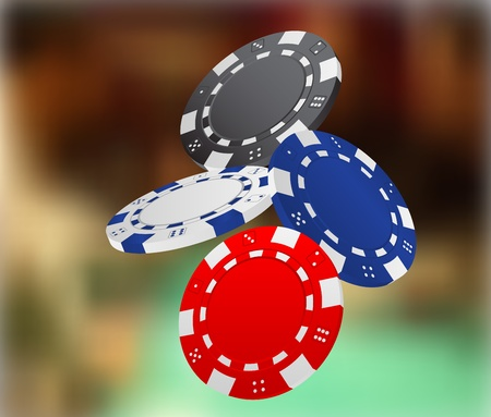 casino chips: Illustration of Falling Poker Chips
