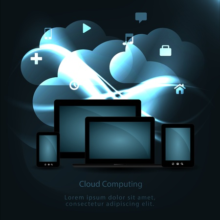 Cloud Computing Concept  Stock Vector - 20837827