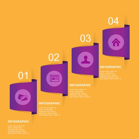 Modern Design template  can be used for infographics  Vector