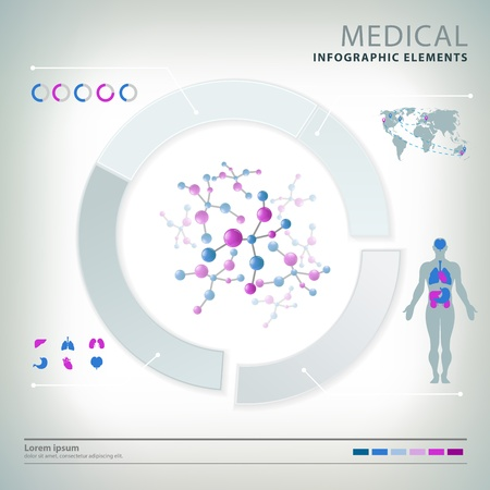 medical infographic elements Stock Vector - 20837846