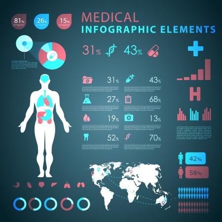pulmon sano: elementos m?dicos infograf?a