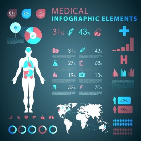 medical infographic elements  Stock Vector - 21643715