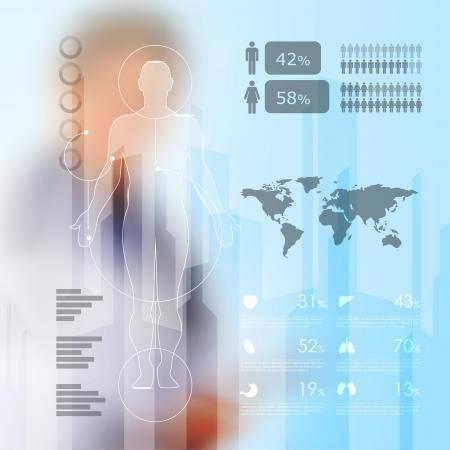 医療のインフォ グラフィック要素