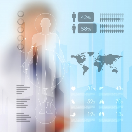 의료 인포 그래픽 요소 일러스트