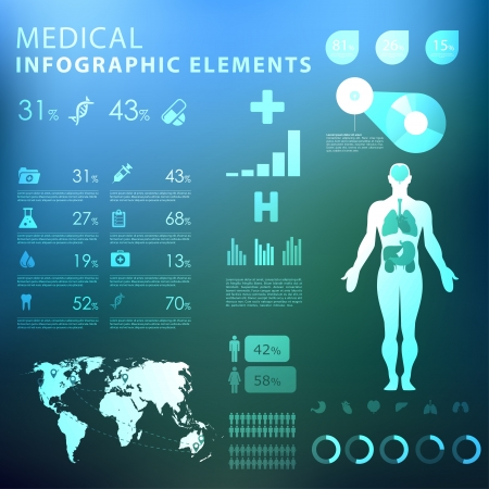 medical infographic elements  Stock Vector - 21643726