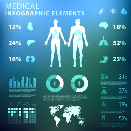 medical infographic elements Stock Vector - 21643731