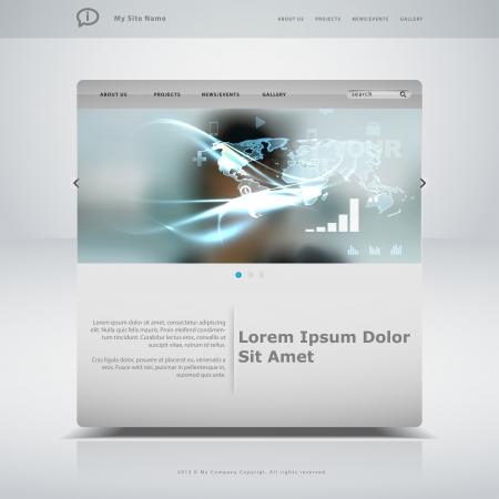 Website template in editable vector format Stock Vector - 21643756