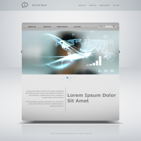 webpages: Website template in editable vector format