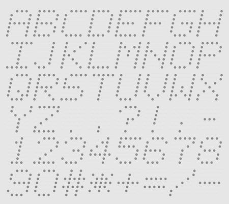 Illustration uppercase alphabet digital LCD indicator Vector
