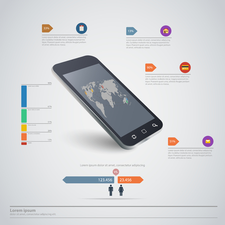 high quality: High quality business infographic elements Illustration