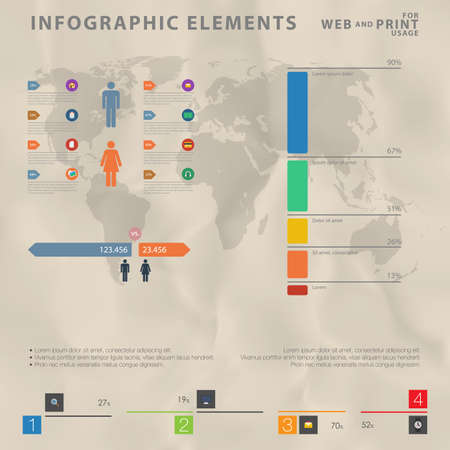 visualization: High quality business infographic elements Illustration