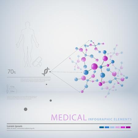 organos internos: médicas elementos infográficos