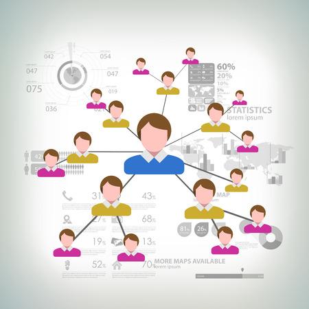 multilevel: Business Network Concept Present By Multilevel Businessman Connection