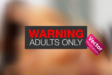Adulte image xxx 18 d'avertissement Banque d'images - 31202294