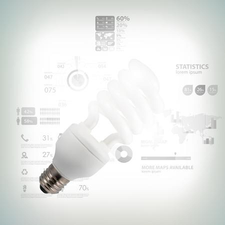 Light bulb with business success strategy plan idea Vector
