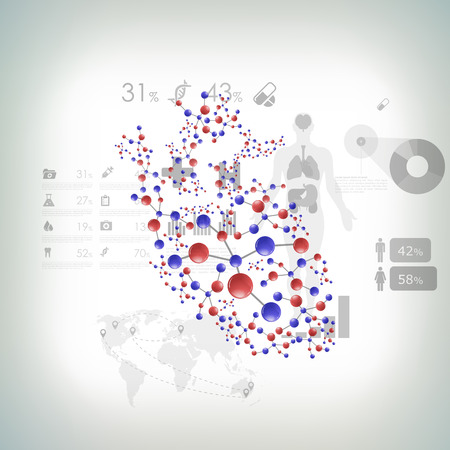 autopsy: medical infographic elements Illustration