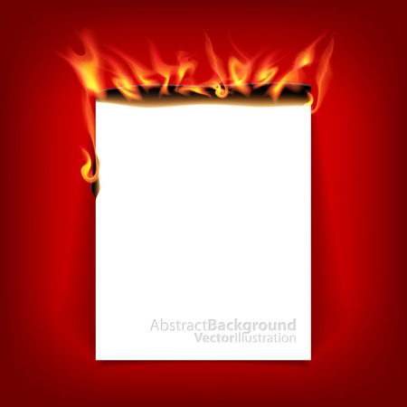 burning paper: Burning paper. Illustration
