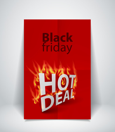 sizzling: Fiery Hot deal design template