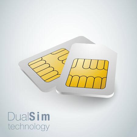 Realistic sim cards, dual sim technology