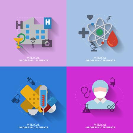 injection valve: medical infographic elements Illustration