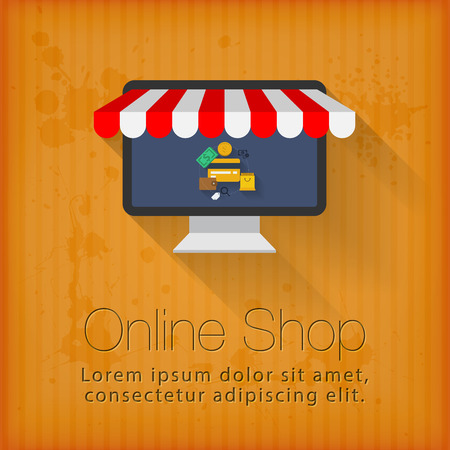 Online shop concept design Иллюстрация