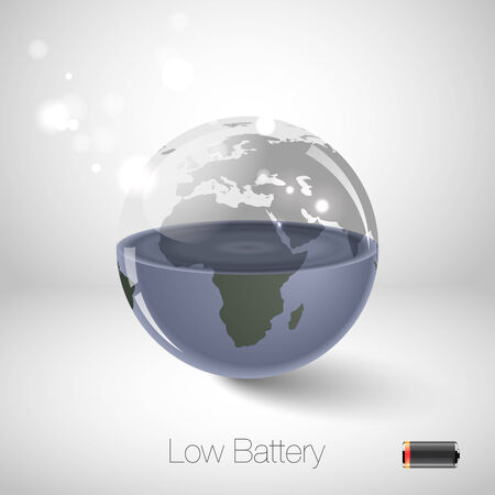 save button: Environmental protection concept Illustration