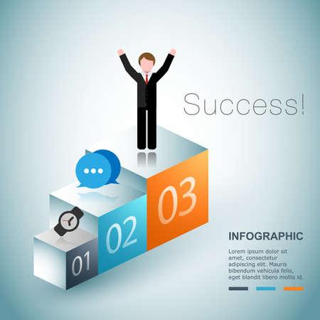 Business succes concept design Vector
