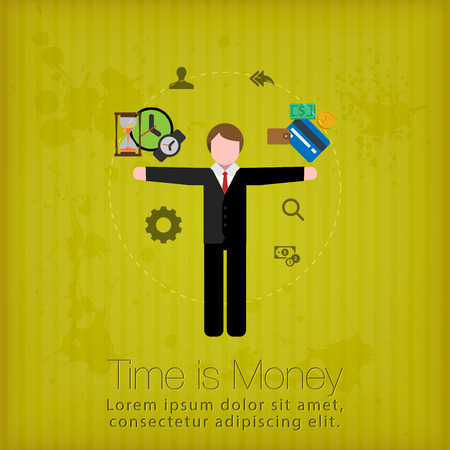 Time is money concept Иллюстрация