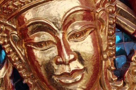 Closeup at face of deva photo